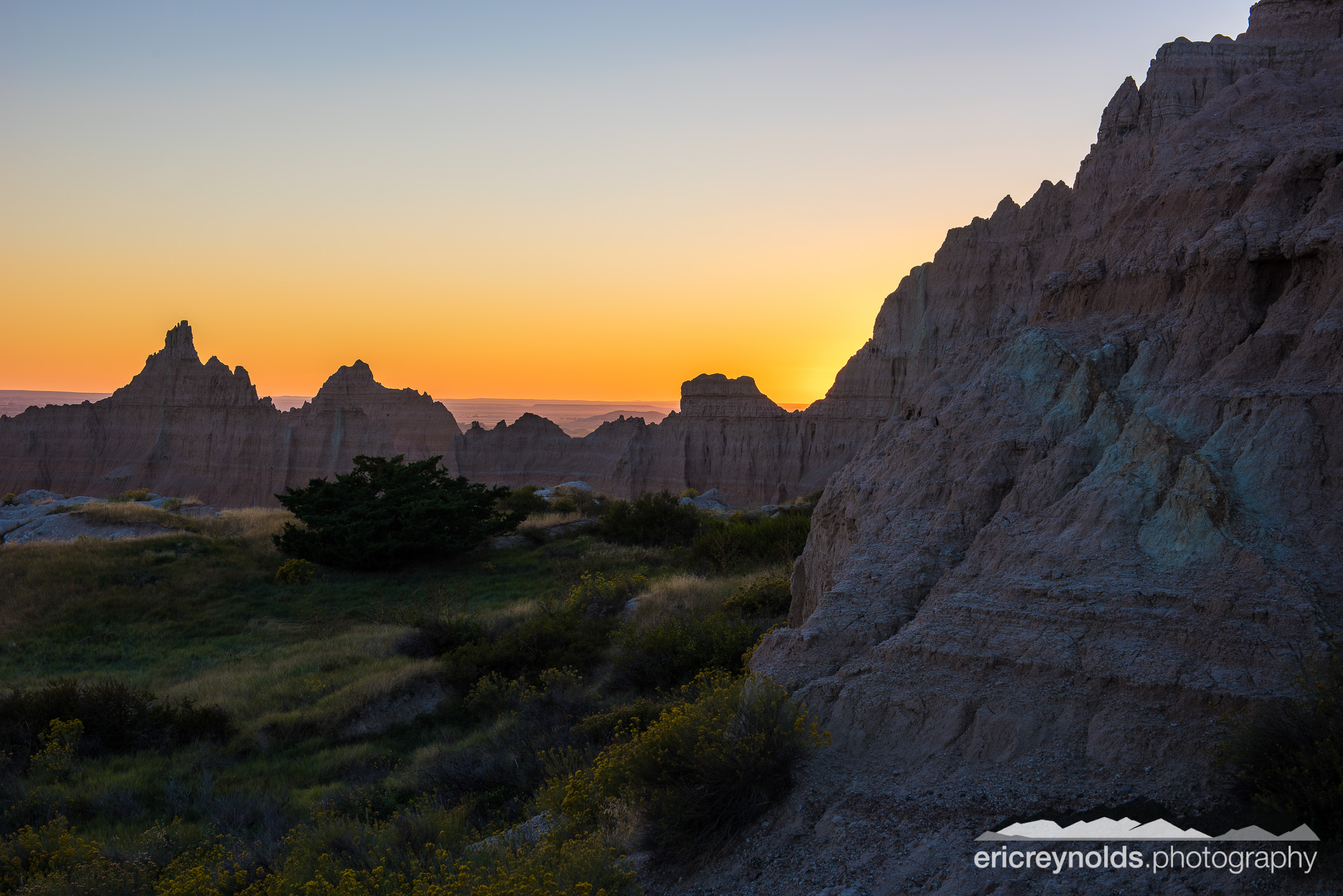 Sunset over Cedar Pass by Eric Reynolds - Landscape Photographer