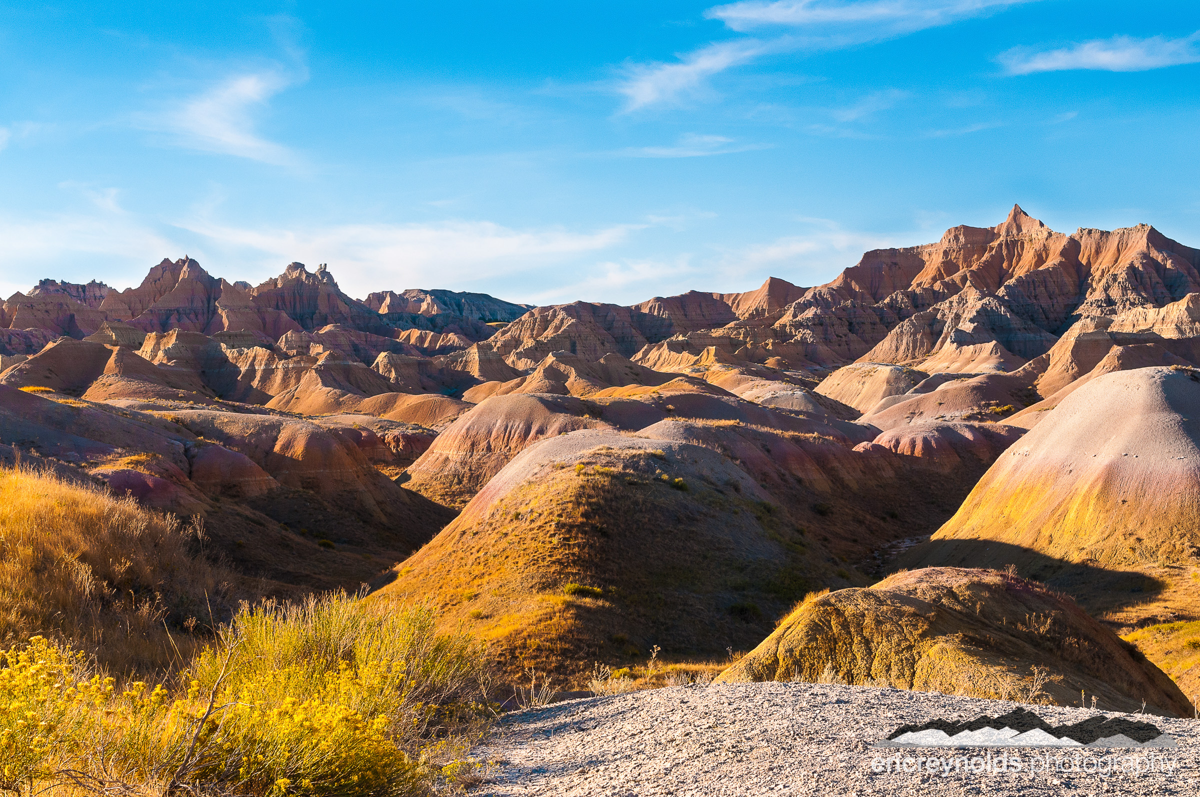 Yellow Mounds in the Badlands by Eric Reynolds - Landscape Photographer
