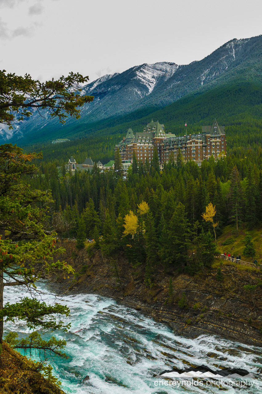 Banff Springs Hotel & Bow River by Eric Reynolds - Landscape Photographer