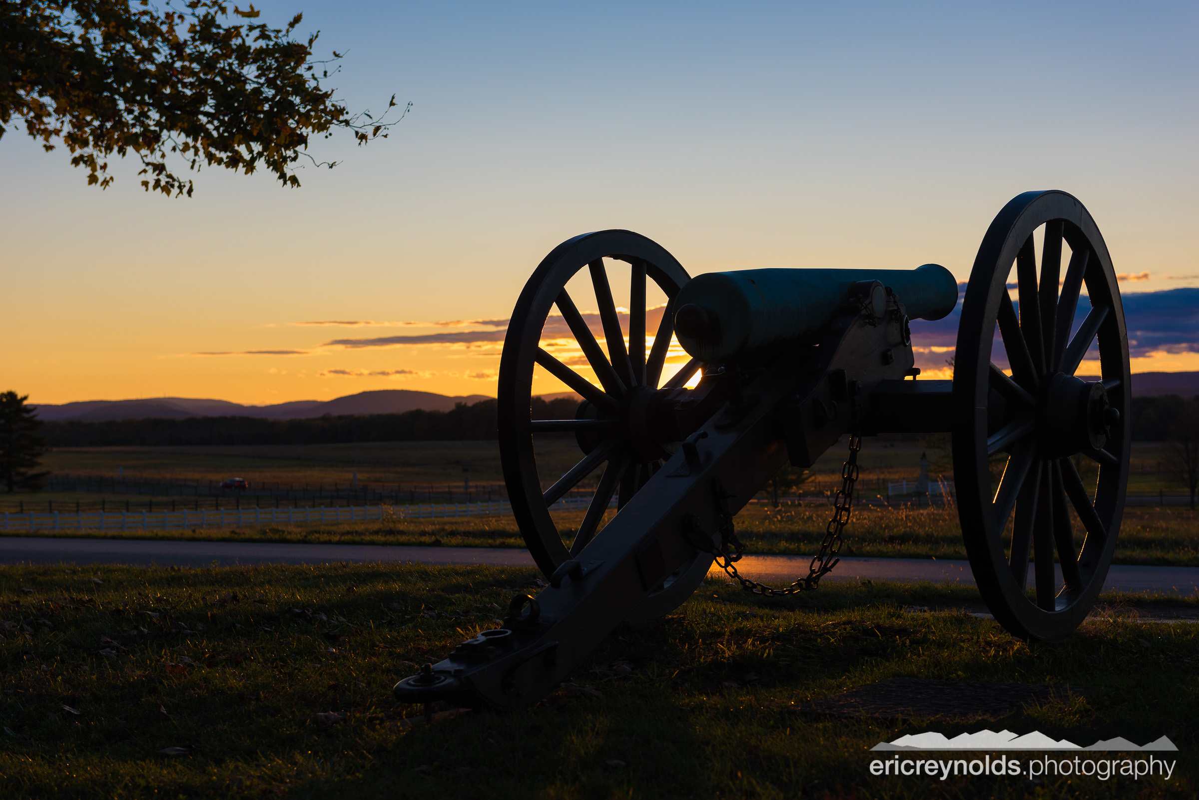 A Lone Cannon at Sunset by Eric Reynolds - Landscape Photographer