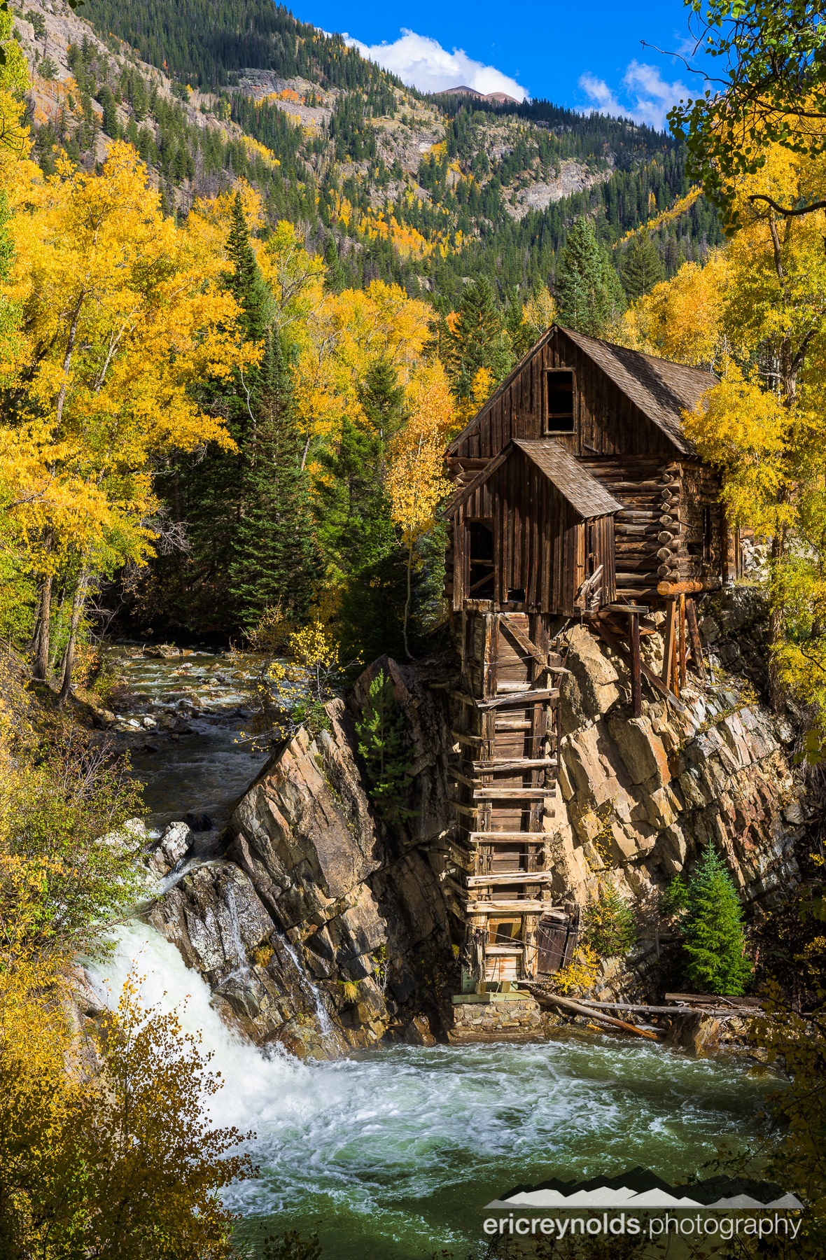 The Crystal Mill in Autumn by Eric Reynolds - Landscape Photographer